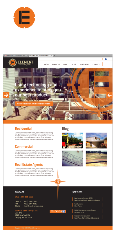 brand design - Element Land Surveys