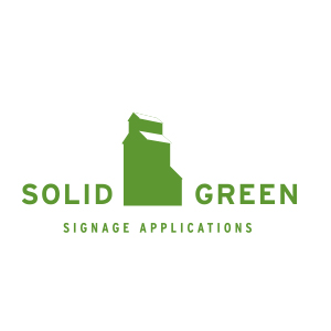 identities - Solid Green Signage