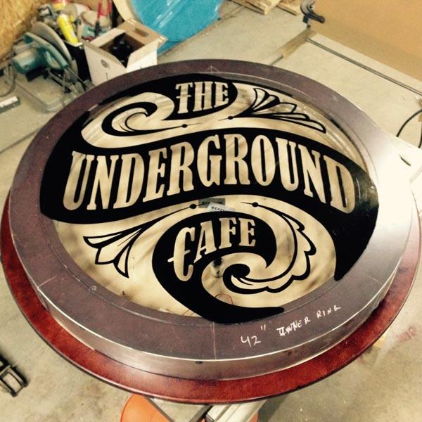 Signage - The Underground Cafe