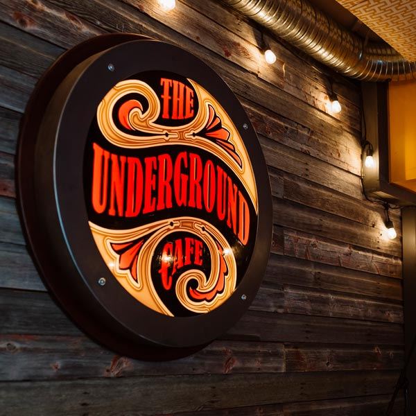 Signage - The Underground Cafe